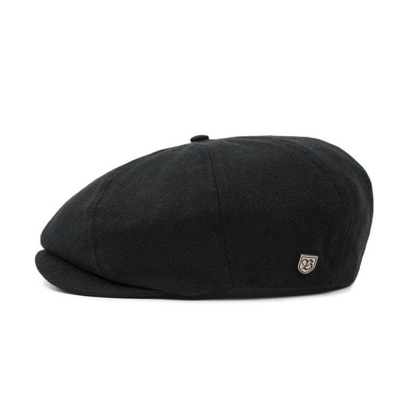 Side view of Brixton Brood cap in Black