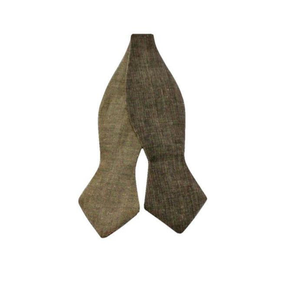 Bowtie - Brown Reversible Linen
