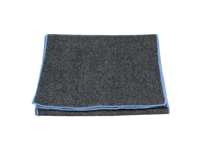 Scarf - Black Donegal Tweed (Blue Edge)