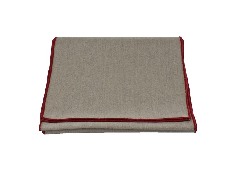 Scarf - Tan Wool (Red Edge)