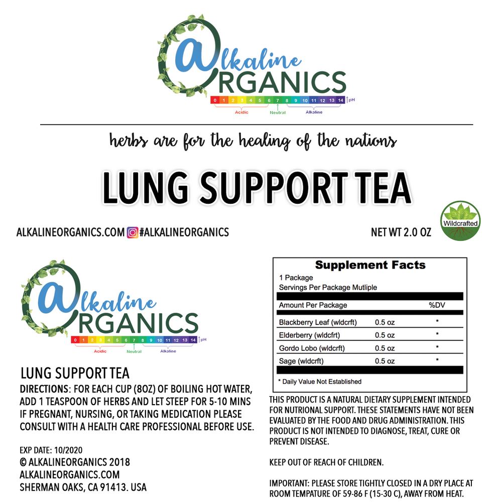 Lung Support Tea Nutrition