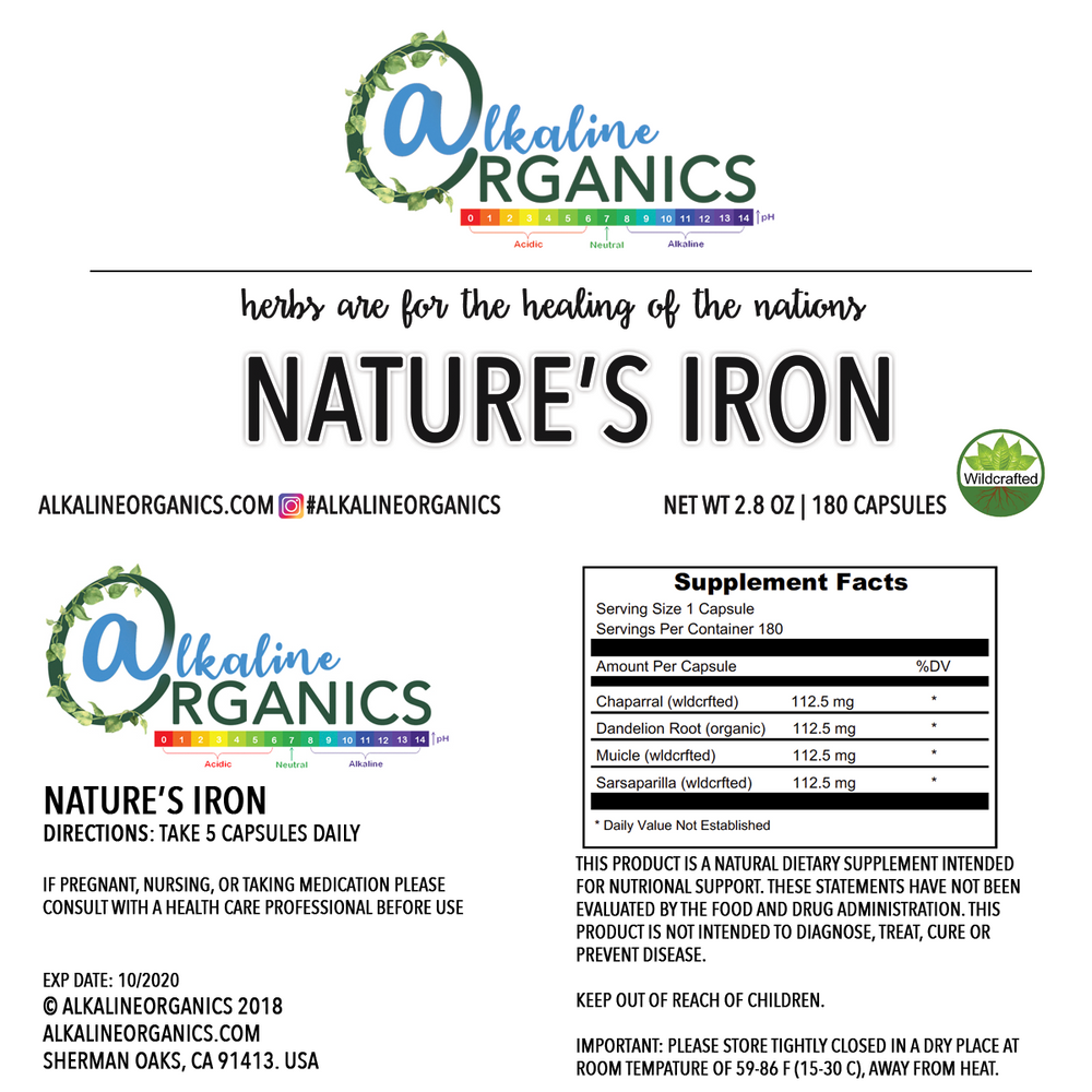 Nature's Iron Capsules Nutrition