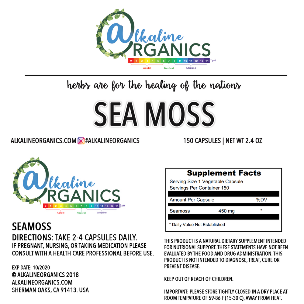 Irish Sea Moss Capsules Nutrition