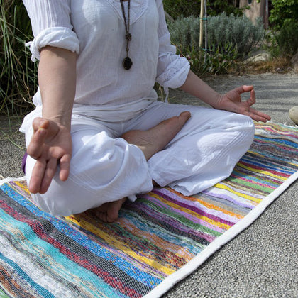 Tapis de yoga upcyclé ACT FOR ETHICS