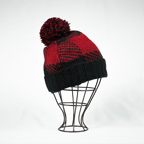 Lumberjack Beanie - Red/Black