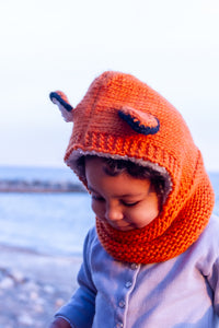 Fox Hand Knit Hoody