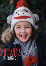 Sock Monkey Kids Pilot Hat