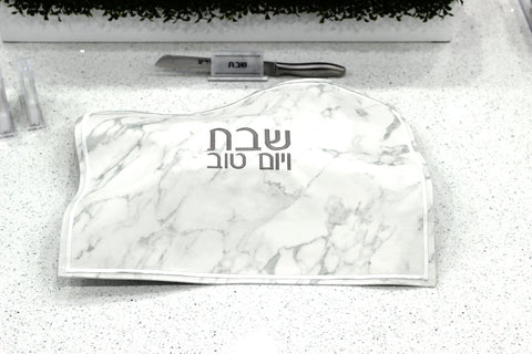 White leather challah cover