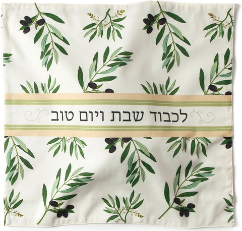 Barbara Shaw olive branch challah cover