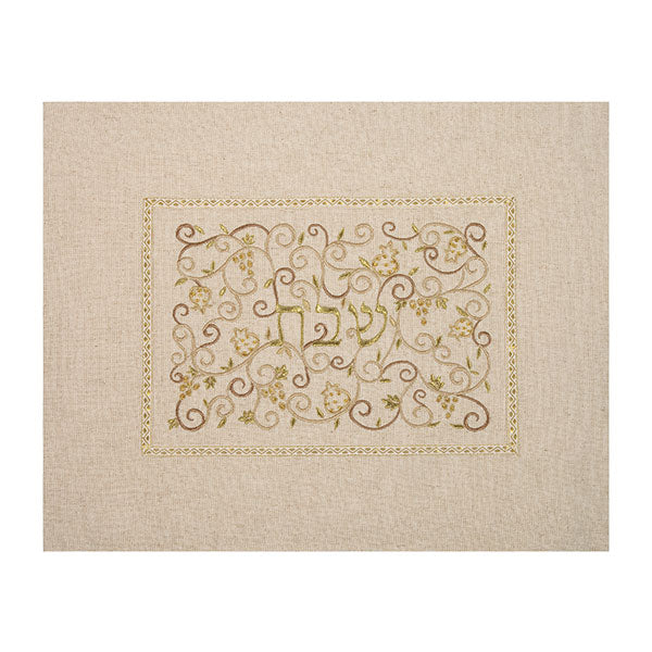 Gold Linen Challah Cover