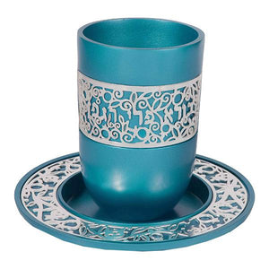 Turquoise Kiddush Cup