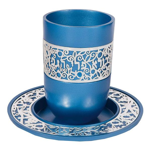 Blue Kiddush Cup