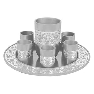 Gray & Silver 8-Piece Kiddush Set