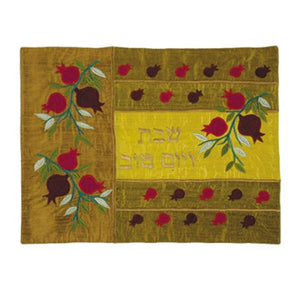 Emanuel silk challah cover CAS-13 with pomegranate design