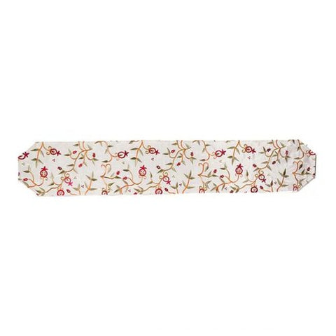Off-White Pomegranate Vine Table Runner