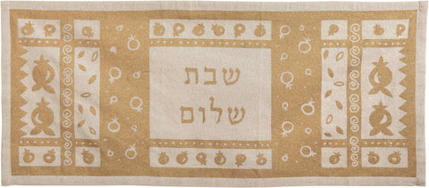 Linen table runner for Shabbat