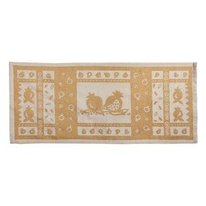 Pomegranates Linen Table Runner
