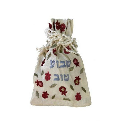 """Shavua Tov"" Embroidered Spice Bag"