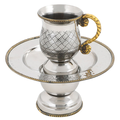 Stainless Steel Silver/Gold Mayim Achronim Set