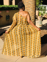 Load image into Gallery viewer, Topaz  One Shoulder Open Maxi - Shirley Girl Boutique