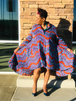 Load image into Gallery viewer, Dawn African Print Hi-Low Swing Dress-Shirley Girl Boutique