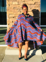 Load image into Gallery viewer, Dawn African Print Hi-Low Swing Dress - Shirley Girl Boutique