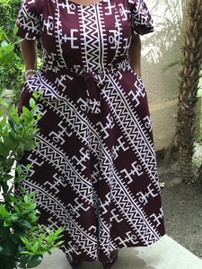 Frankie African Print Maxi Dress - Shirley Girl Boutique