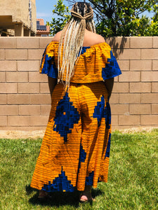 The Sun Breeze Palazzo's and Crop Top - Shirley Girl Boutique