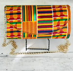 Load image into Gallery viewer, Kente Round Clutch Handbag No2 - Shirley Girl Boutique