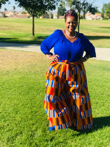 Bold Kente Palazzo Pants - Shirley Girl Boutique
