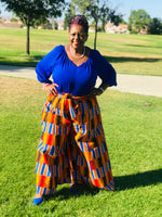 Load image into Gallery viewer, Bold Kente Palazzo Pants - Shirley Girl Boutique