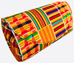 Load image into Gallery viewer, Kente Round Clutch Handbag No 2-Shirley Girl Boutique