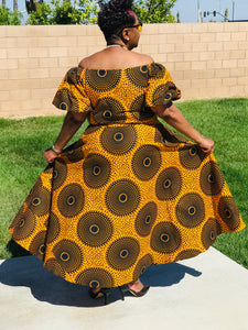 The Honeybee African Print Maxi - Shirley Girl Boutique