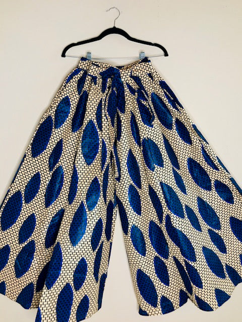 African Print Palazzo Pants With Matching Head Wrap & Handbag - Shirley Girl Boutique