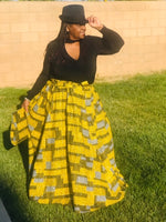 Load image into Gallery viewer, African Print Maxi Skirt With Matching Handbag & Head Wrap Set - Shirley Girl Boutique