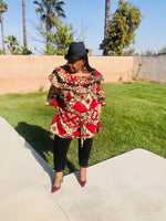 Load image into Gallery viewer, African Print Tunic or Knee Length Dress - Shirley Girl Boutique