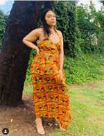 Load image into Gallery viewer, Kente Strapless Maxi Sundress - Shirley Girl Boutique