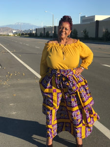 Peyton Purple & Gold Maxi Skirt - Shirley Girl Boutique