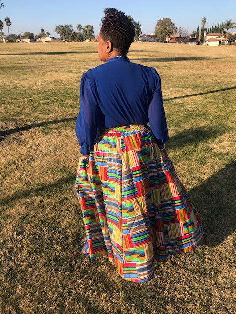 Kelsy African Print Maxi Skirt - Shirley Girl Boutique