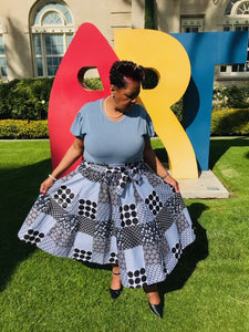 Best Friend African Print Patchwork Skirt - Shirley Girl Boutique