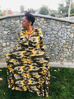Load image into Gallery viewer, Mustard Camo Maxi - Shirley Girl Boutique