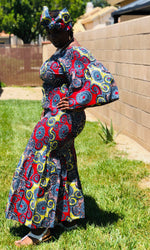 Load image into Gallery viewer, Nichelle  African Print Mermaid Maxi - Shirley Girl Boutique