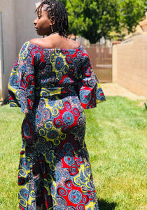Nichelle  African Print Mermaid Maxi - Shirley Girl Boutique