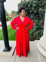 Load image into Gallery viewer, Red  Classy Flowy Maxi - Shirley Girl Boutique