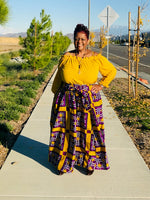 Load image into Gallery viewer, Peyton Purple and Gold Maxi Skirt- Shirley Girl Boutique
