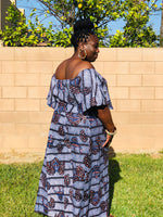 Load image into Gallery viewer, Sarell African Print Palazzo Pants And Crop Top - Shirley Girl Boutique