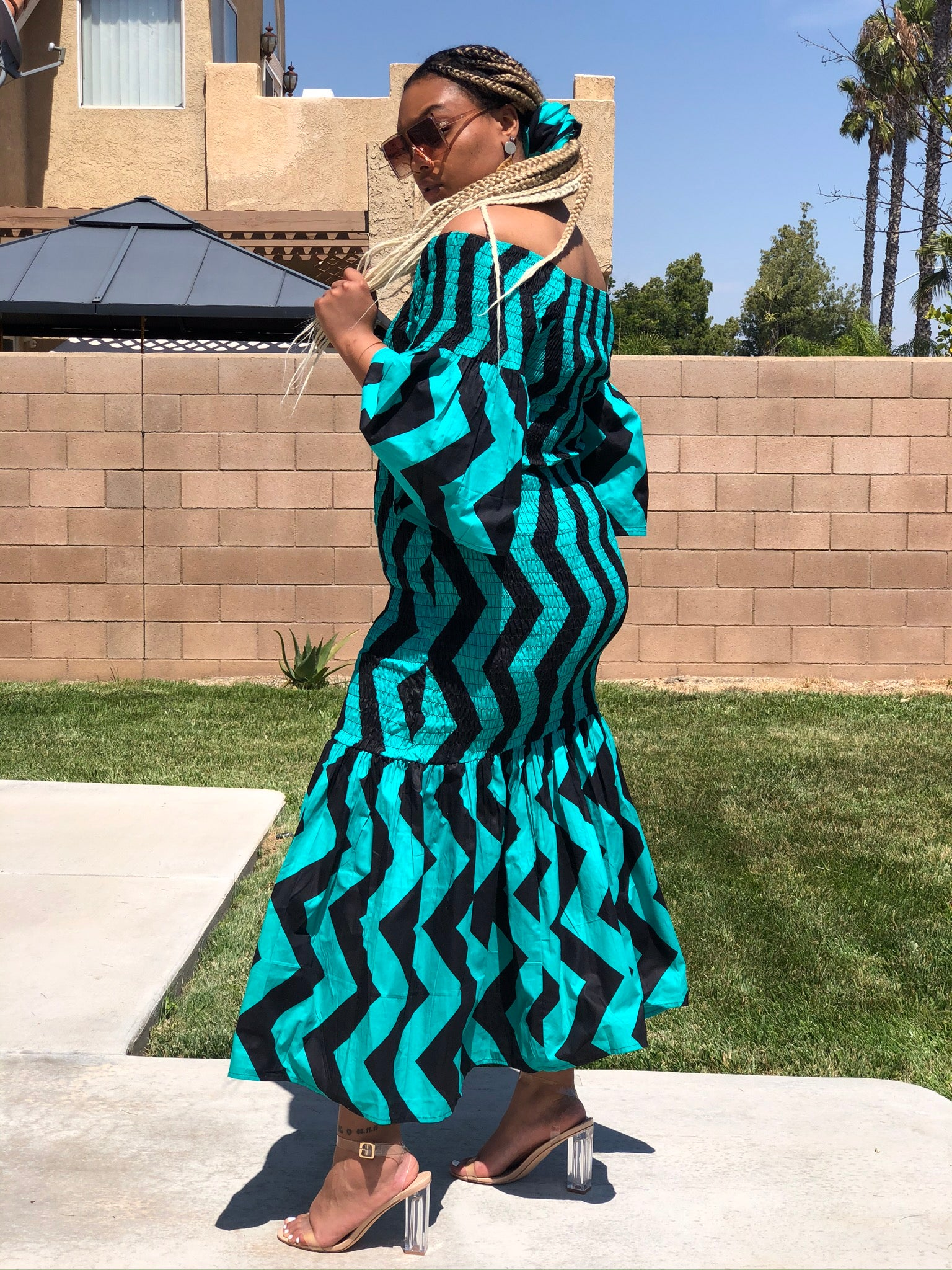 Color Block Mermaid Maxi - Shirley Girl Boutique