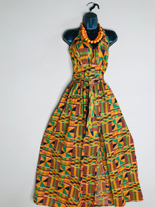 Kente Strapless Maxi Sundress - Shirley Girl Boutique