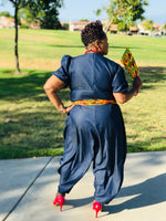 Load image into Gallery viewer, The Jada Denim Harem Jumpsuit - Shirley Girl Boutique