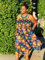 Load image into Gallery viewer, The Jazzy African Print Sun Dress - Shirley Girl Boutique